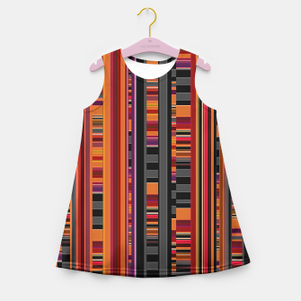 Thumbnail image of Pixel Lines Girl's Summer Dress, Live Heroes
