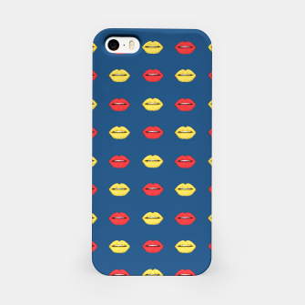 Thumbnail image of Pop art lips bright pattern iPhone Case, Live Heroes