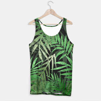 Thumbnail image of TROPICAL GREEN LEAVES Black b Tank Top, Live Heroes