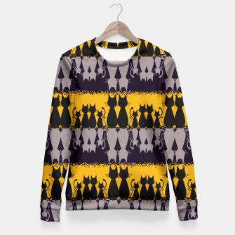 Thumbnail image of Cat Pattern Fitted Waist Sweater, Live Heroes