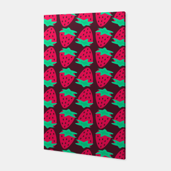 Thumbnail image of Strawberry Pattern Canvas, Live Heroes