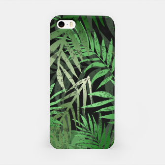 Thumbnail image of TROPICAL GREEN LEAVES Black b iPhone Case, Live Heroes