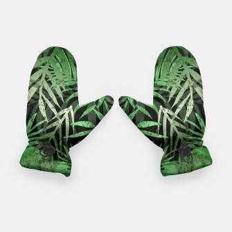 Thumbnail image of TROPICAL GREEN LEAVES Black b Gloves, Live Heroes