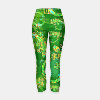 Thumbnail image of Gecko Lizard Colorful Tattoo Style Yoga Pants, Live Heroes