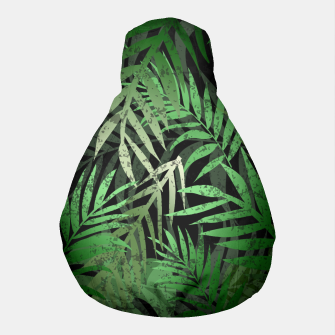 Thumbnail image of TROPICAL GREEN LEAVES Black b Pouf, Live Heroes