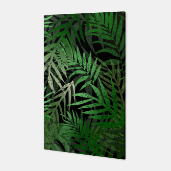 Thumbnail image of TROPICAL GREEN LEAVES Black b Canvas, Live Heroes