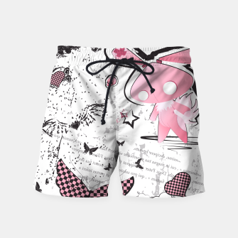 Thumbnail image of Punk Bunny - cute and grunge  Swim Shorts, Live Heroes