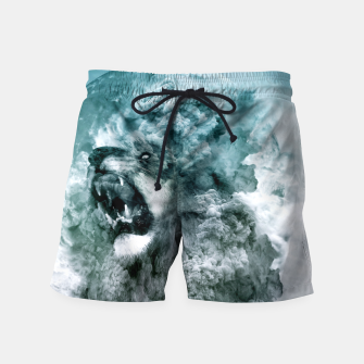 Thumbnail image of Lion Blue Swim Shorts, Live Heroes