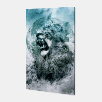 Thumbnail image of Lion Blue Canvas, Live Heroes