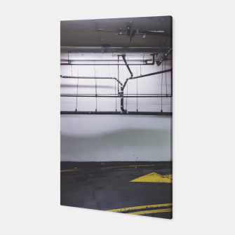 Thumbnail image of parking lot with the yellow arrow and tubes Canvas, Live Heroes