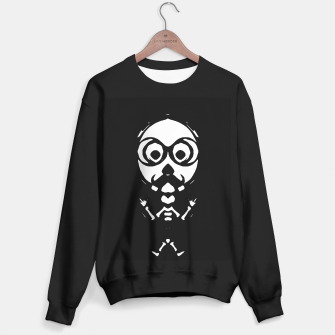 Thumbnail image of old skinny skull and bone with glasses in black and white Sweater regular, Live Heroes