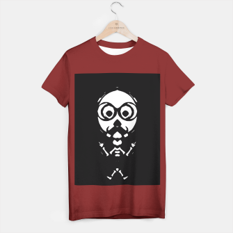 Thumbnail image of old skinny skull and bone with glasses in black and white T-shirt regular, Live Heroes