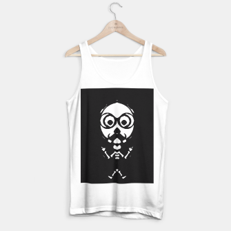 Thumbnail image of old skinny skull and bone with glasses in black and white Tank Top regular, Live Heroes