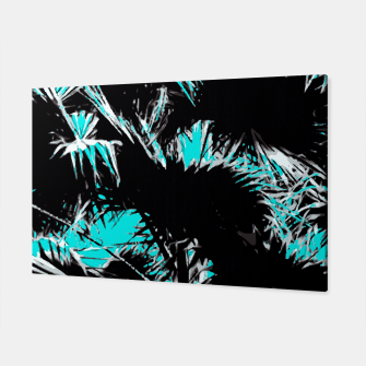 Thumbnail image of palm leaf abstract with blue background Canvas, Live Heroes