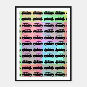 Thumbnail image of Pop Cars Framed poster, Live Heroes