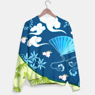 Thumbnail image of Blue&green - Japanese Kimono design Sweater, Live Heroes