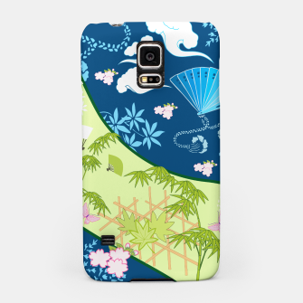Thumbnail image of Blue&green - Japanese Kimono design Samsung Case, Live Heroes
