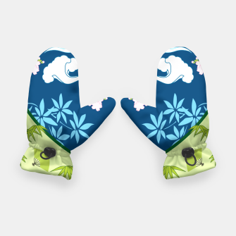 Thumbnail image of Blue&green - Japanese Kimono design Gloves, Live Heroes