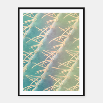 Thumbnail image of Vintage Cacti Framed poster, Live Heroes