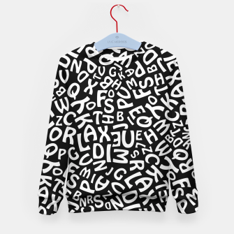 Thumbnail image of Alphabet Kid's Sweater, Live Heroes