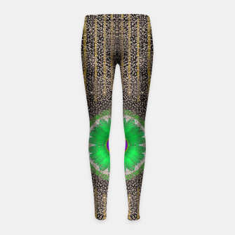 Thumbnail image of in the stars and pearls is a flower Girl's Leggings, Live Heroes