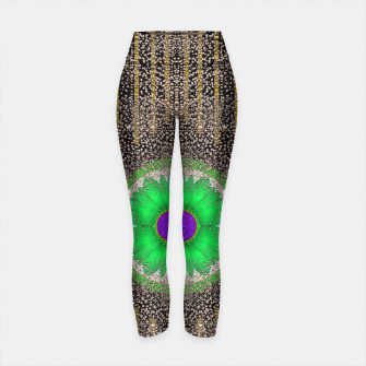 Thumbnail image of in the stars and pearls is a flower Yoga Pants, Live Heroes