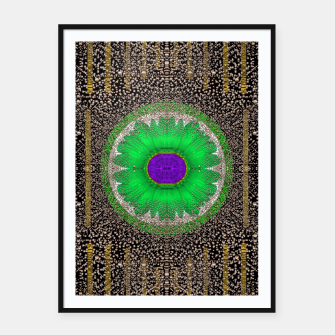 Thumbnail image of in the stars and pearls is a flower Framed poster, Live Heroes