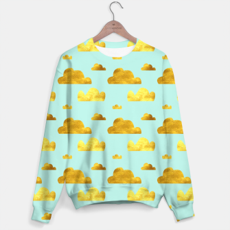 Thumbnail image of Gold clouds blue Sweater, Live Heroes