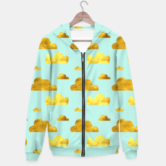 Thumbnail image of Gold clouds blue Hoodie, Live Heroes
