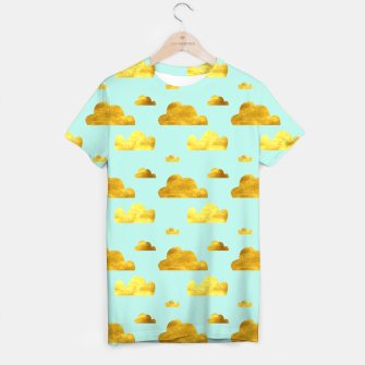 Thumbnail image of Gold clouds blue T-shirt, Live Heroes