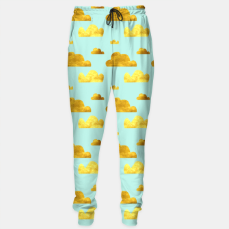 Thumbnail image of Gold clouds blue Sweatpants, Live Heroes