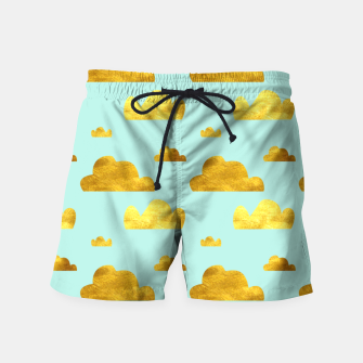 Thumbnail image of Gold clouds blue Swim Shorts, Live Heroes