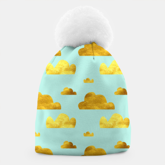 Thumbnail image of Gold clouds blue Beanie, Live Heroes