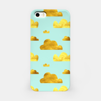Thumbnail image of Gold clouds blue iPhone Case, Live Heroes