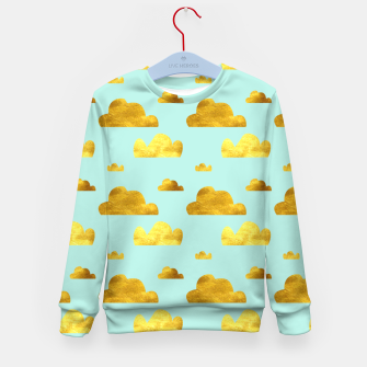 Thumbnail image of Gold clouds blue Kid's Sweater, Live Heroes