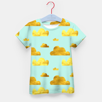 Thumbnail image of Gold clouds blue Kid's T-shirt, Live Heroes