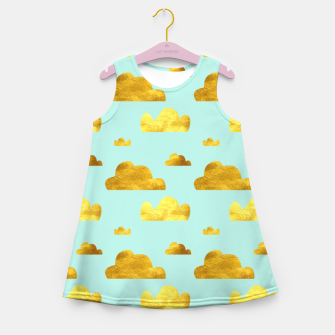 Thumbnail image of Gold clouds blue Girl's Summer Dress, Live Heroes