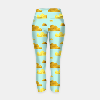 Thumbnail image of Gold clouds blue Yoga Pants, Live Heroes