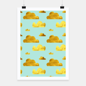 Thumbnail image of Gold clouds blue Poster, Live Heroes