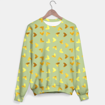 Thumbnail image of Gold heart green Sweater, Live Heroes