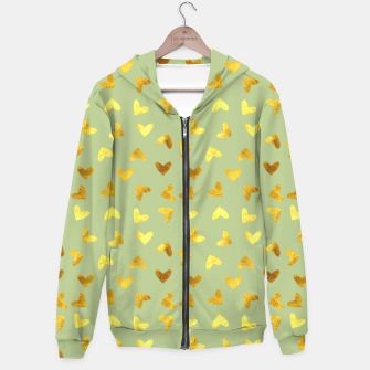 Thumbnail image of Gold Clouds green Hoodie, Live Heroes