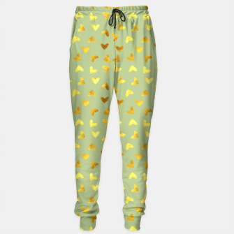 Thumbnail image of Gold Clouds green Sweatpants, Live Heroes