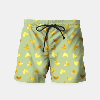 Thumbnail image of Gold Clouds green Swim Shorts, Live Heroes