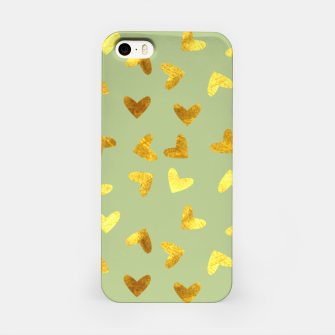 Thumbnail image of Gold Clouds green iPhone Case, Live Heroes