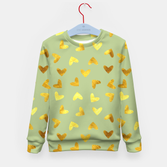 Thumbnail image of Gold Clouds green Kid's Sweater, Live Heroes
