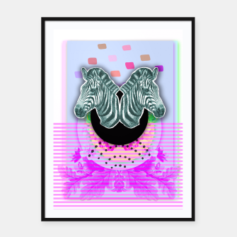 Thumbnail image of ZEBRA STYLE Framed poster, Live Heroes