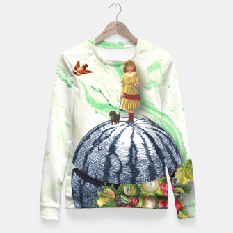 Thumbnail image of WATERMELON WALK Fitted Waist Sweater, Live Heroes