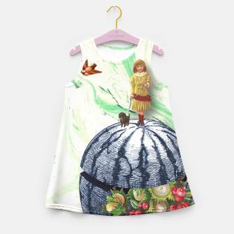 Thumbnail image of WATERMELON WALK Girl's Summer Dress, Live Heroes