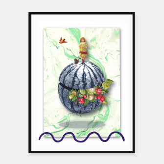 Thumbnail image of WATERMELON WALK Framed poster, Live Heroes