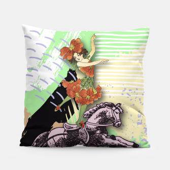 Thumbnail image of RIDING HORSE Pillow, Live Heroes